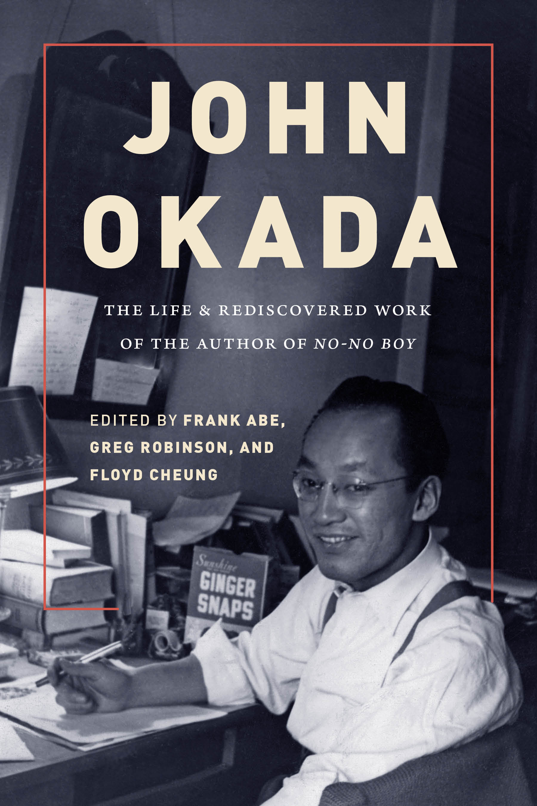 John Okada at desk in New York City, 1949