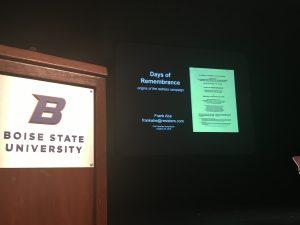 Symposium stage