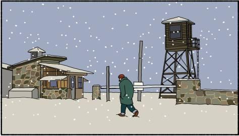 snow at Minidoka