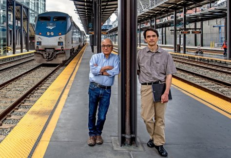 Frank and Ross at King Street Station