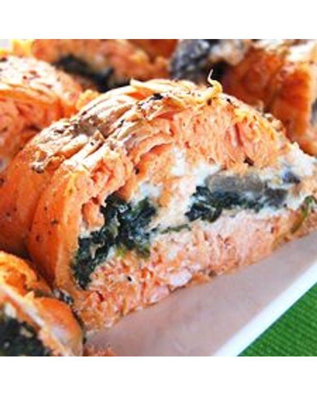 Filets De Truite Saumone Farcis Aux Champignons Et