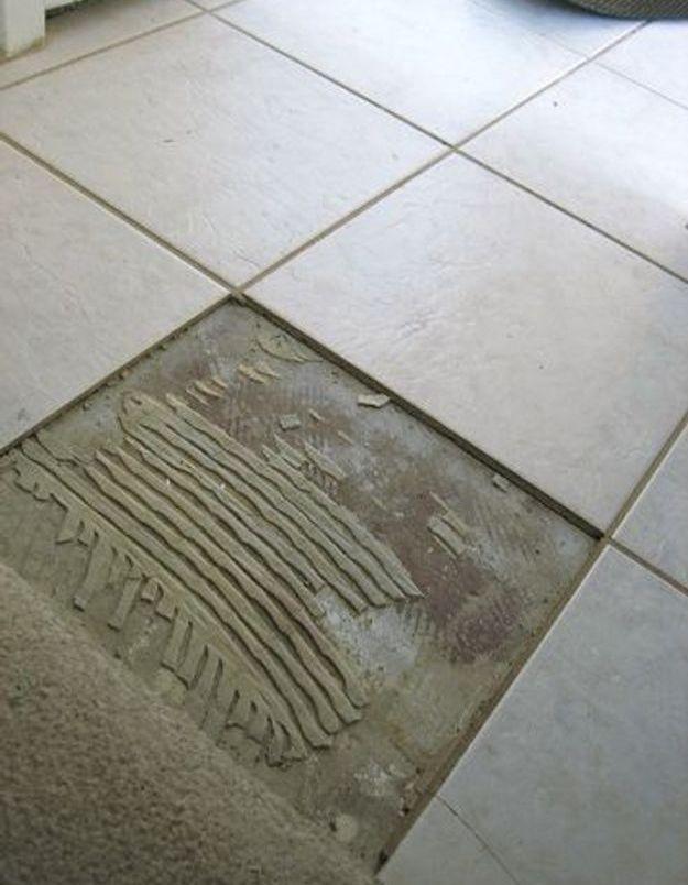 reparer un carrelage de sol elle