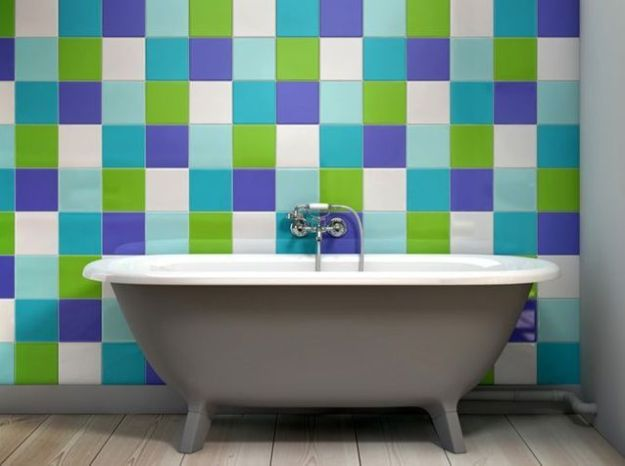 Carrelage colore salle de bain like a color