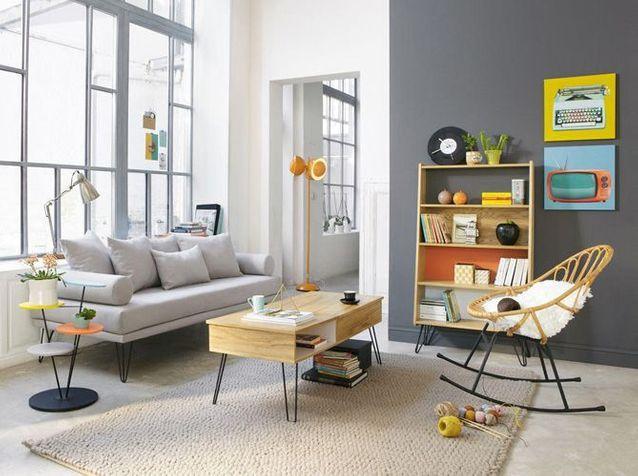 des touches de couleur dans votre salon
