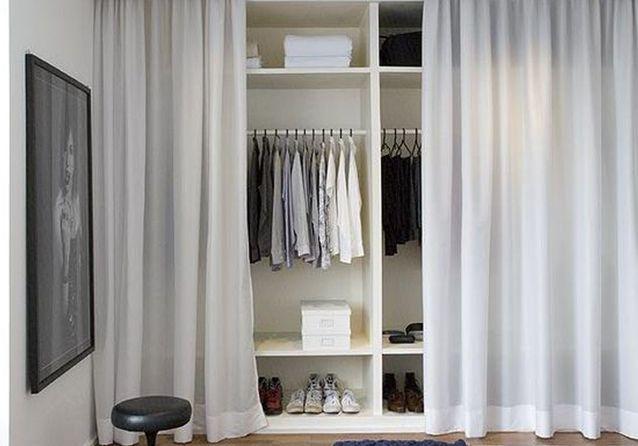 de simples rideaux pour cacher un dressing inspiration 10 bonnes idees pinterest pour delimiter un espace elle decoration