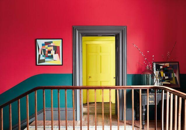 peindre son couloir en couleur l