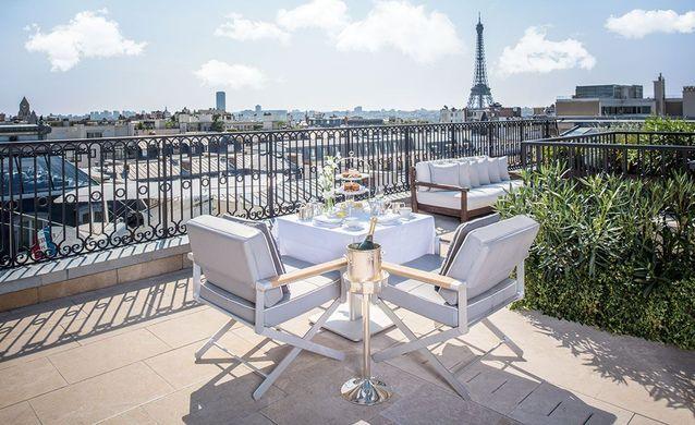 Suite Jardin vue Tour Eiffel, The Peninsula Hotel Paris, France