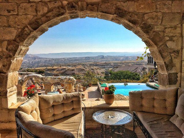 Terrasse chambre Museum Hotel Relais & Châteaux, Cappadoce