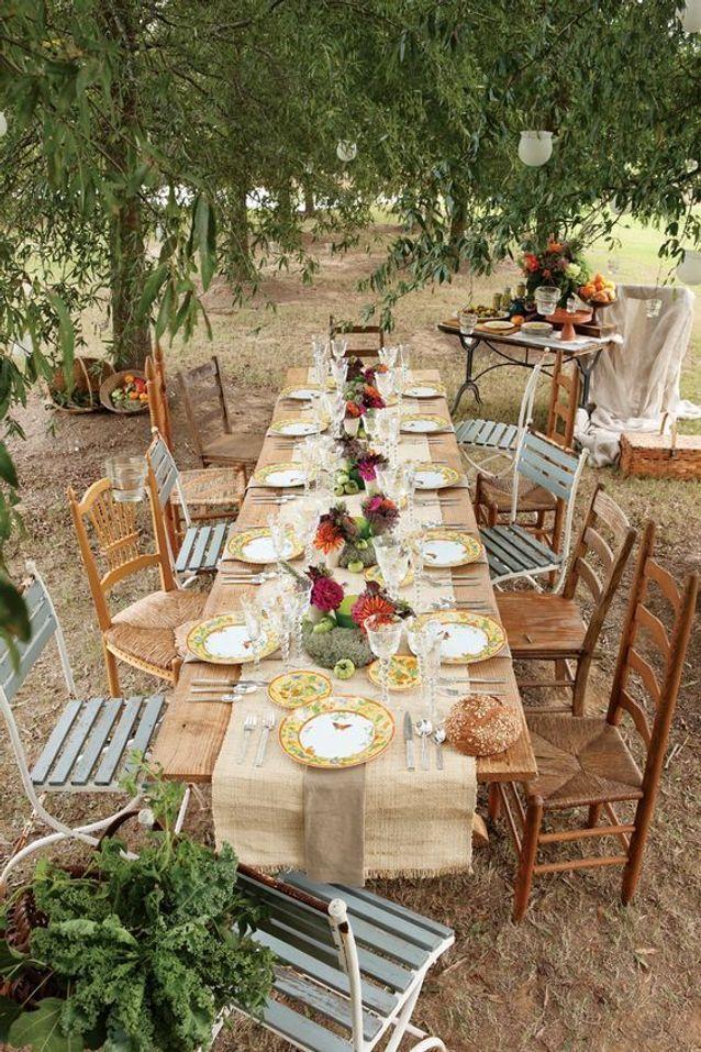 decoration de table de mariage pour l