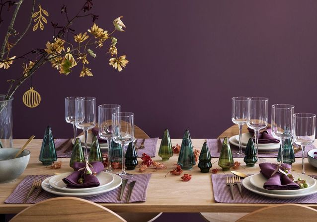 finest une dco de table de nol russie grce ides brillantes with decor de table noel