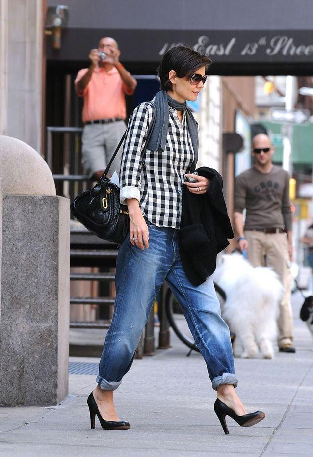 Katie Holmes à New York, en 2008