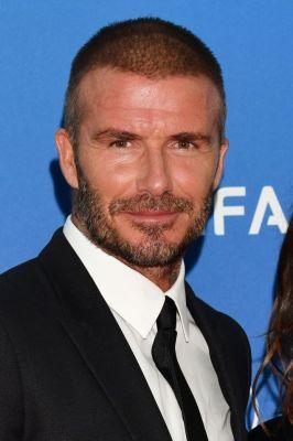David Beckham honoured with the 2018 UEFA president's award.