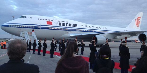 tapis rouge pour le president chinois a