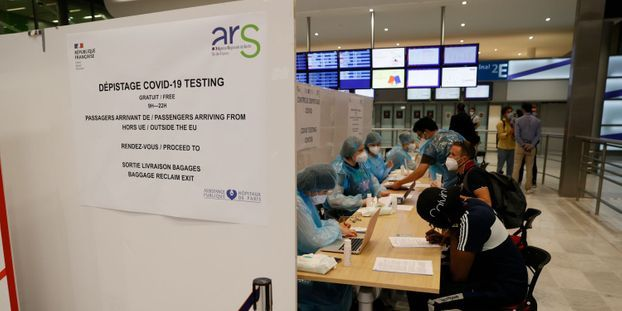 Test PCR covid-19 roissy