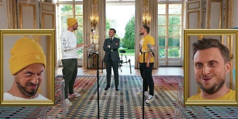 Macron promet aux youtubeurs McFly et Carlito d'afficher leur portrait lors  d'une prochaine allocution