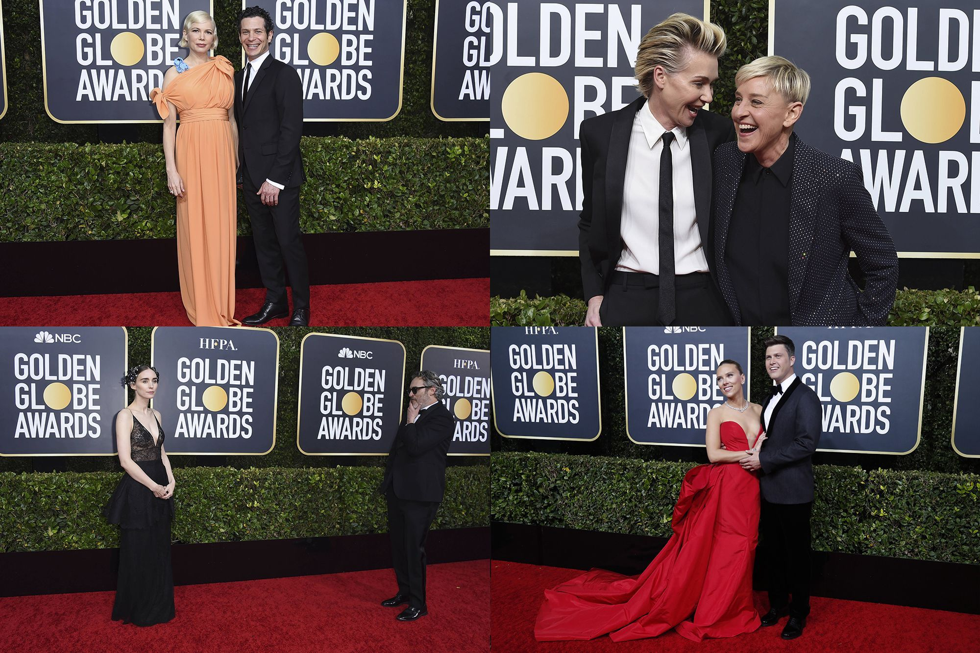 golden globes 2020 les couples stars