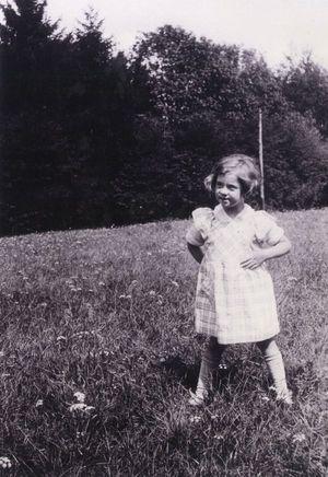 Anne de Gaulle, enfant.