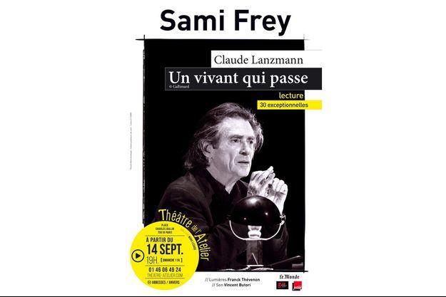 L'affiche de la pièce «Un vivant qui passe», avec Sami Frey.