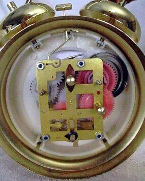Inside A Wind Up Alarm Clock