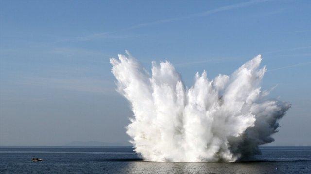 Hasil gambar untuk explosion on ocean