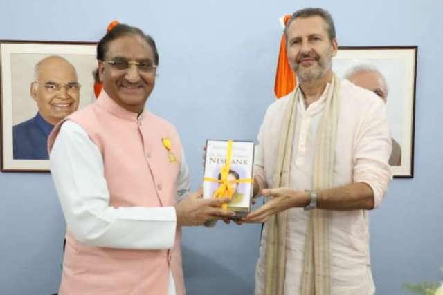 Ramesh Pokhriyal Nishank receives 'Maharishi Inter National Invincible Gold Medal' - India Tv