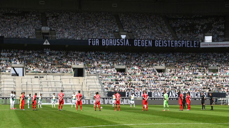 Bundesliga: Thousands of replica fans take over during Borussia ...