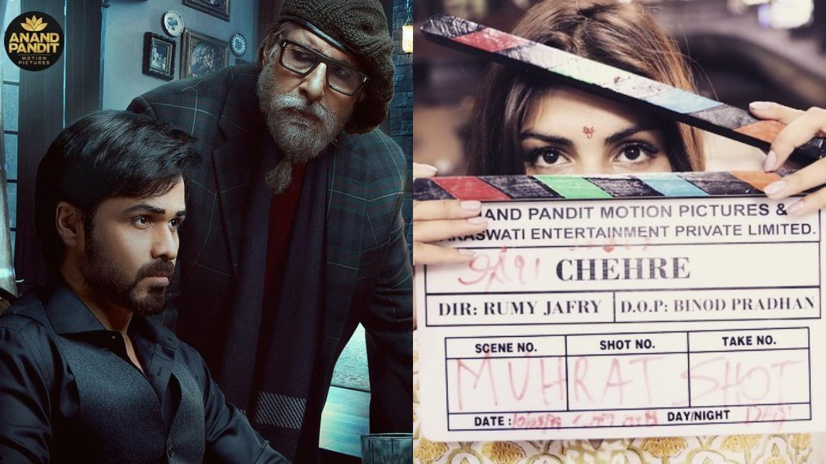 Chehre poster out: Amitabh Bachchan, Emraan Hashmi starrer to release on  April 30; where is Rhea Chakraborty? | Celebrities News – India TV