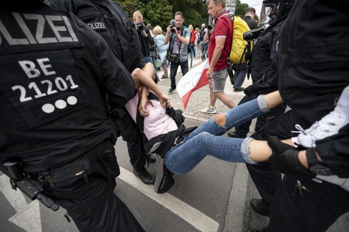 berlin protesters decry coronavirus measures; 600 detained   world news – india tv
