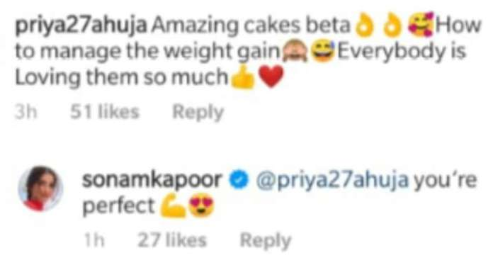 India Tv - Sonam Kapoor bakes chocolate walnut cake, Anand Ahuja's mother has a question