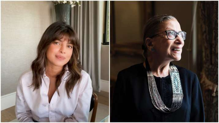 Priyanka Chopra pays heartfelt tribute to US Supreme Court Justice Ruth Bader Ginsburg