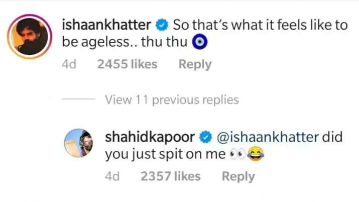 India Tv - Shahid Kapoor's hilarious reply to brother Ishaan Khatter's compliment