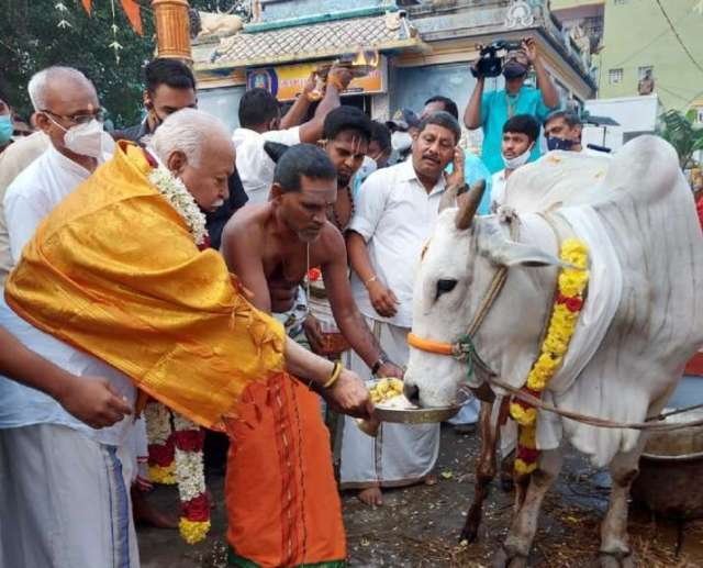 Mohan Bhagwat participates in Pongal celebrations in TN