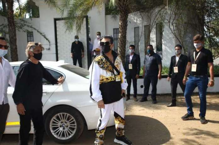 India Tv - Karan Johar arrives at Varun & Natasha's big fat Punjabi wedding