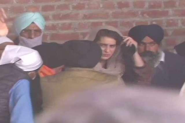 Priyanka Gandhi meets family of Navreet Singh, man who died during R-Day protest in Delhi