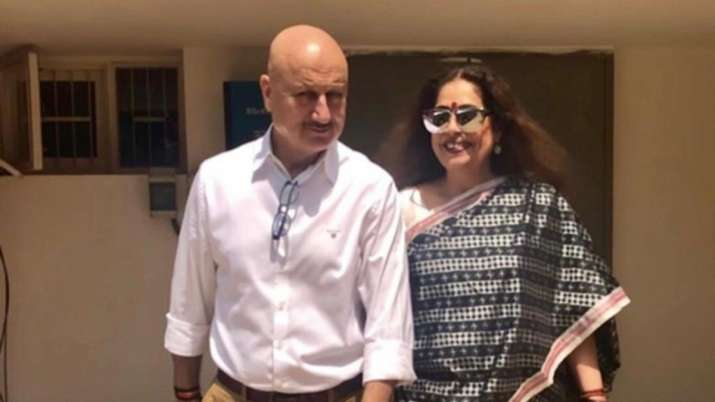 Anupam Kher updates fans about wife Kirron Kher's health, says 'she's in good spirits'