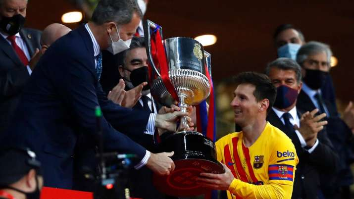 Copa del Rey: Lionel Messi nets 2 as Barcelona beat Bilbao 4-0 to win title | Football News – India TV