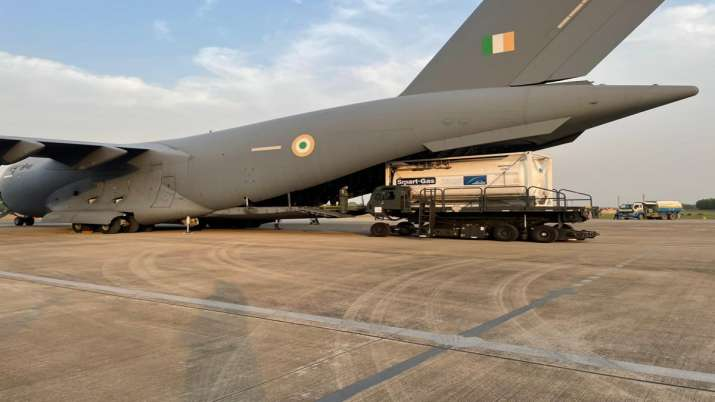 COVID-19: Indian Air Force brings 4 cryogenic oxygen containers from Singapore