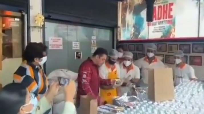 Covid-19: Salman Khan's 'Being Haangryy' initiative to feed frontline workers in Mumbai | WATCH VIDEO