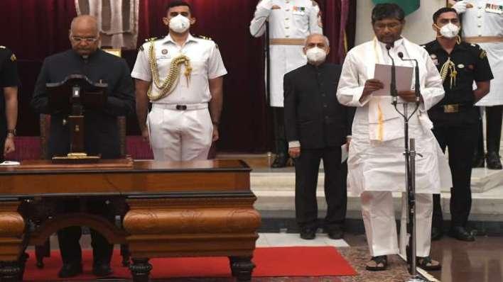 FILE  President Ram Nath Kovind administers oath to Pashu