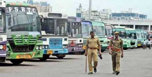 पंजाब रोडवेज बस कर्मचारी हड़ताल पर