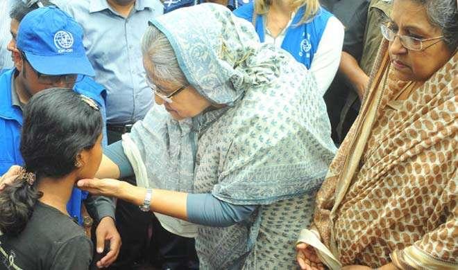 शेख हसीना ने किया रोहिंग्या शरणार्थी कैंपों का दौरा