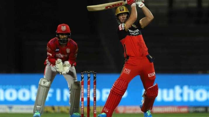 AB de Villiers during RCB vs KXIP game at Sharjah