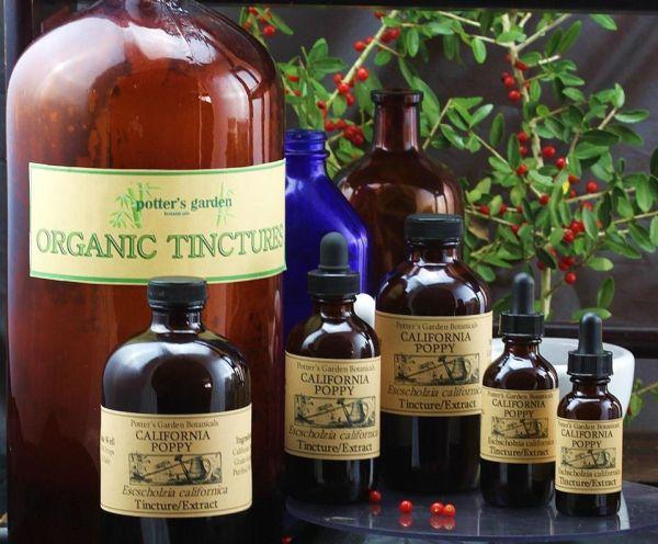 Organic CALIFORNIA POPPY TINCTURE Liquid Extract ~ Full ...