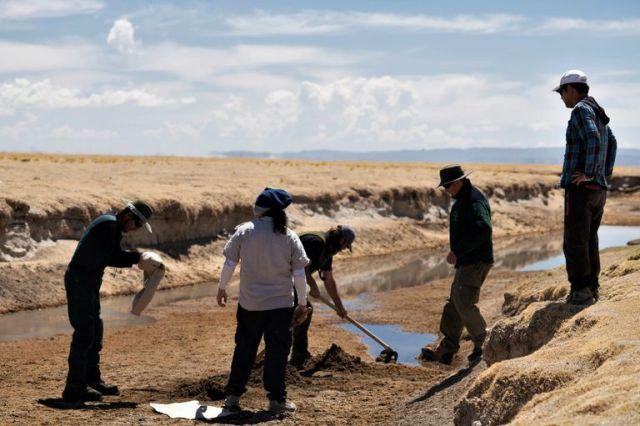 Obras de restauración en Laguna de los Pozuelos
