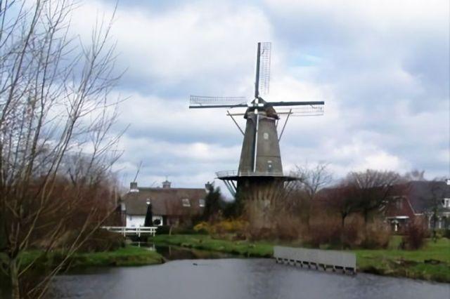 Una postal de Bergambacht, Países Bajos.