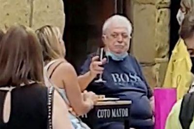 La foto de Ginés González García en Madrid, España, que se viralizó en las redes sociales