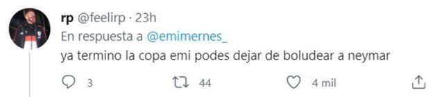 """""""Ya terminó la copa, emi"""", la respuesta a Emilia Mernes tras su publicación con la frase de """"Dibu"""" Martínez"""