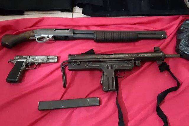 Armas secuestradas a los secuaces de Dumbo