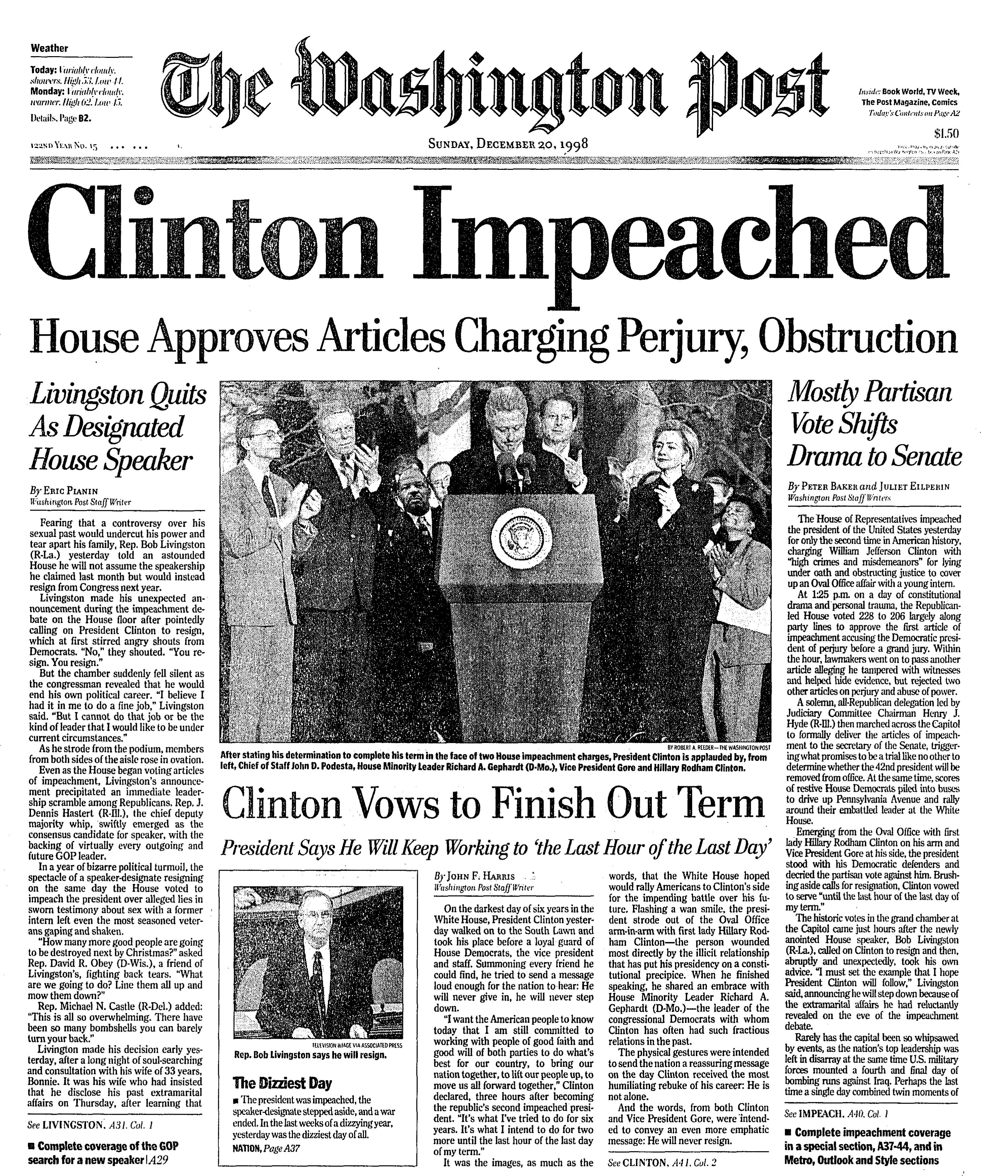 """Image result for clinton impeached"""""""