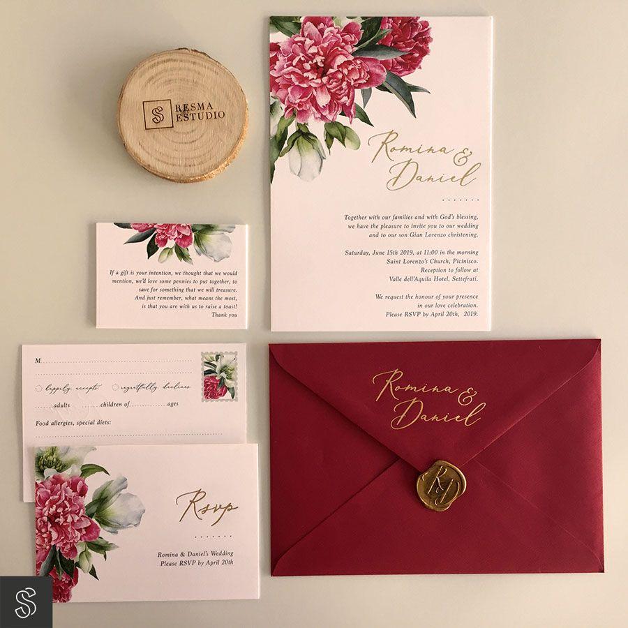 papelería invitaciones de boda
